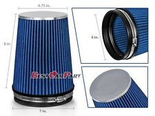 "BLUE 6"" 152mm Inlet Truck Air Intake Cone Replacement Quality Dry Air Filter"