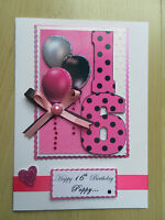 Luxury Hand-Made 16th Birthday Card -Can be Personalised-Any Relative/Friend