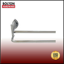Bolton Solid Brass Bathroom Double Towel Bar in Bright Chrome