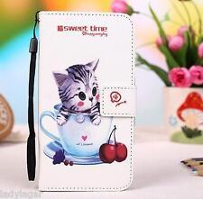 Custodia libro stampato portabiglietti PU pelle sintetica per LG Optimus L4 II