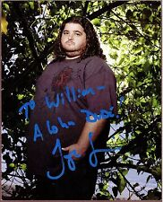 "Jorge Garcia, Actor, Signed & Inscribed 8"" x 10"" Color Photo, COA, UACC RD 036"