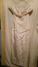LADIES VINTAGE ? WEDDING DRESS PINK RONALD JOYCE OFF THE SHOULDER 32 CHES