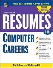 Resumes for Computer Careers by McGraw-Hill Education Staff (2008, Paperback)