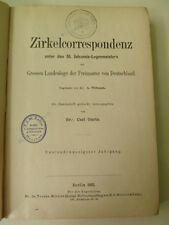 Zirkelcorrespondenz, St. Johannis-Logenmeistern der Grossen, Freimaurerei,