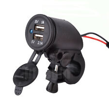 2USB Motorcycle Mobile Waterproof Power Supply Port Socket Charger For Phone 12V