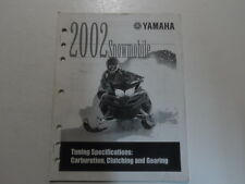 2002 Yamaha Snowmobile Tuning Specification Carburetion Clutching Gearing Manual