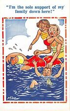 POSTCARD   COMIC   CHILDREN  Seaside....