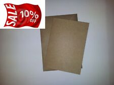 50 x A6 RECYCLED 280GSM KRAFT POSTCARD STYLE CARD WITH RIBBED KRAFT ENVELOPES
