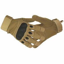 Tactical Assault Combat Gloves - MEDIUM - TAN - Breathable Material - NEW
