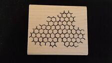 HONEYCOMB BACKGROUND Stampers Anonymous Rubber Stamp BEEHIVE HEXAGON Bees