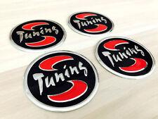 Aufkleber Embleme für Radkappen 4 x 60 mm für TUNING schwarz rot silber neu