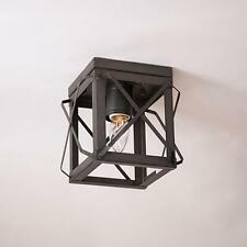 primitive new kettle black open folded bar single ceiling light / nice