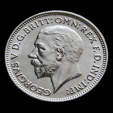 1934 George V Silver Sixpence – Scarce – A/BU