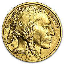 2008-W 1/10 oz Uncirculated Gold Buffalo Coin - Box and Certificate - SKU #57650