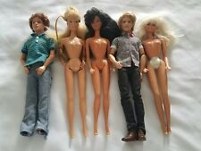 Mixed Lot of 5 BARBIE Dolls and Ken dolls