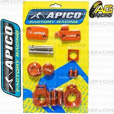 Apico Bling Pack Orange Blocks Caps Plugs Nuts Clamp Covers For KTM EXC 400 2002