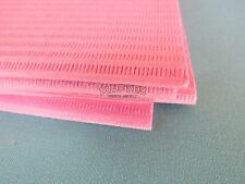 """100 Disposable Patient Bibs PINK Dental Tattoo Medical Spa Towel 2+1 Ply 13""""x18"""""""