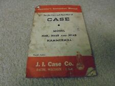 Vintage Case H8B, H10B, and H14B Hammermill Operator's Manual