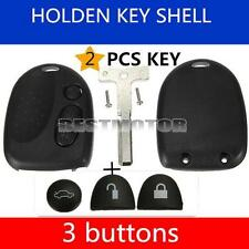 2x For Holden Commodore 3 Button Car Remote - Case/Shell & Uncut Key VS VX VY VZ