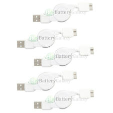5 White USB 3.0 Retract Charging Data Cable for Samsung Galaxy GS5 S5 S 5 Note 3