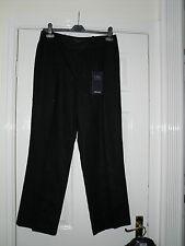 BNWT M&S SMART CASUAL BLACK LINEN TROUSERS SIZE 12 LONG TALL