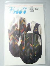 Ghee's Shirt Tail Vest #595 Sewing Pattern Sizes Sm - XL