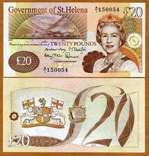 St. Helena, 20 Pounds, 2012 (2014) P-13-New date and signature, QEII, UNC