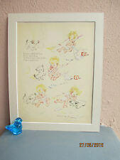 vintage nursery illustration of babies by Ruth E. Newton 1935