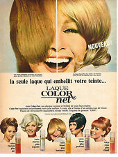 PUBLICITE  1966   COLOR NET  laque