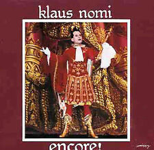 Klaus Nomi Encore Europe Cd NEW SEALED