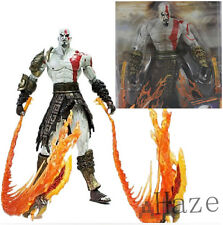 "7"" NECA God of War 2 Kratos flame Action Figure movable joints in box DDD"