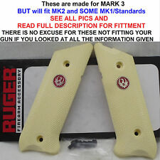Factory RUGER Sim IVORY Grips Mark MK I II III 1 2 3 READ FULL DESCRIPTION &PICS