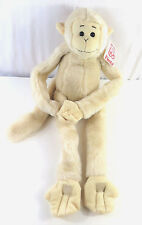 "Fiesta 26"" Off White Soft Plush Hanging Monkey Toy Long Arms &  Legs w/Tag USED"