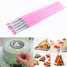 5 Cake Decorating sugarcraft Brushes equipment dusting Tools Fine pointed flat