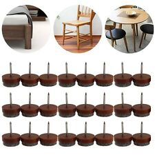 24 x Furniture Table Chair Leg Floor Felt Pad Skid Glide Slide Nail Protect 20mm