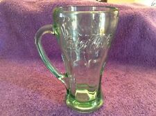"Libby Green Glass 6"" Tall CocaCola Fountain Mug"