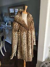 Vintage con CITES 1945 Real Ocelot Leopardo Jaguar Guepardo Piel Chaqueta Abrigo Chaleco
