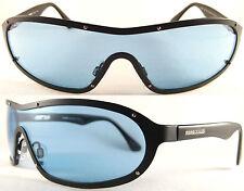 Rare Momo Design unisex Sunglasses, light weight Pure Titanium, Black/Blue