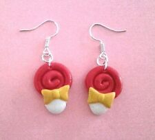 Orecchini Lollipop lecca lecca realizzati a mano Bijoux earrings idea regalo