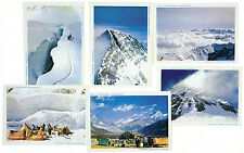 """Six """"Kodachrome"""" cards from photographs taken on the 1953 Everest expedition"""