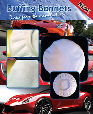 """Microfibre Buffing Bonnets 5PACK 8"""" White Premium 30% POLYAMIDE-For machine use"""