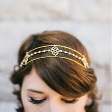 Chic Women Metal Rhinestone Head Chain Jewelry Headband Head Piece Hair band