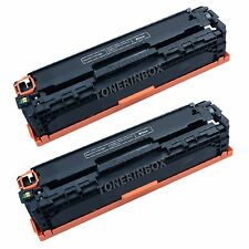 2 Pack  Black Replacemen Toner For CE320A 128A Color LaserJet CM1415fnw CP1525nw