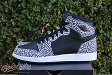 NIKE AIR JORDAN 1 RETRO HI PREMIUM I GS SZ 6.5 Y BLACK CEMENT GREY 838850 013