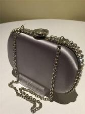 Aftershock London Gracie Designer Ladies Silver Diamond Jewel Prom Clutch Bag