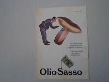 advertising Pubblicità 1961 OLIO SASSO