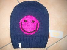 (M20) Grobstrick Mütze FREAKY HEADS Beanie Wintermütze Happy Face mit Logo Flag