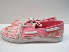 Sperry Top-Sider Women's Biscayne Boat Shoes (Pink Anchor Toss) sz.7.5  (6080)