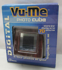 Vu-Me Photo Cube Store and Display Photographs Up To 70 Pictures Brown with USB