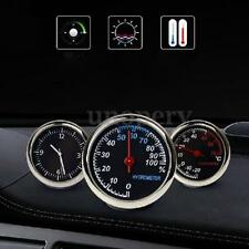 3X Car Dashboard Thermometer Humidity Meter Quartz Clock Temperature Hygrometer